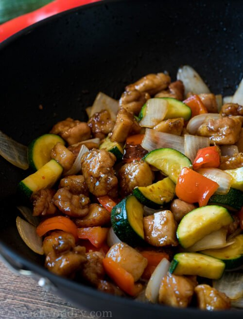 This super easy Honey Garlic Chicken Stir Fry is made in less than 30 minutes for a super quick weeknight dinner recipe!