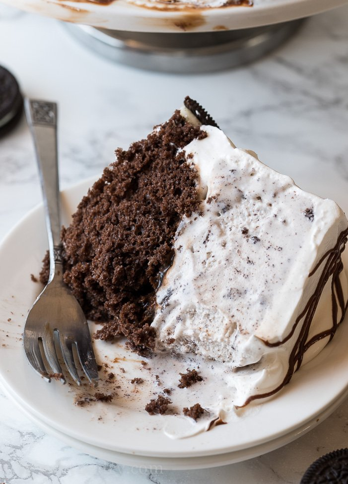 Homemade Oreo Ice Cream Cake I Wash You Dry
