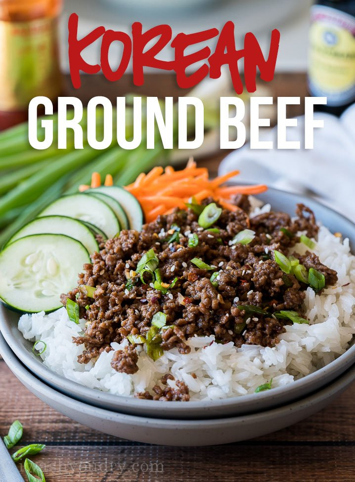Easy Korean Ground Beef Recipe