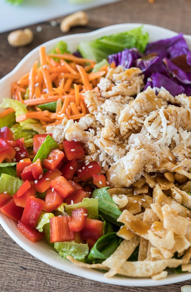 One bite of this gorgeous Quick Asian Chicken Salad and you'll be hooked!