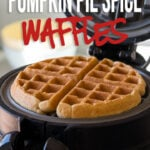 This Pumpkin Pie Spice Waffles Recipe is a quick and easy fall inspired breakfast recipe that's always a family favorite!