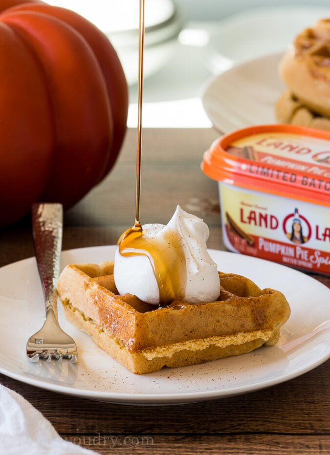 OMG! These Pumpkin Pie Spice Waffles are AMAZING!! The perfect fall breakfast! My whole family loved them!