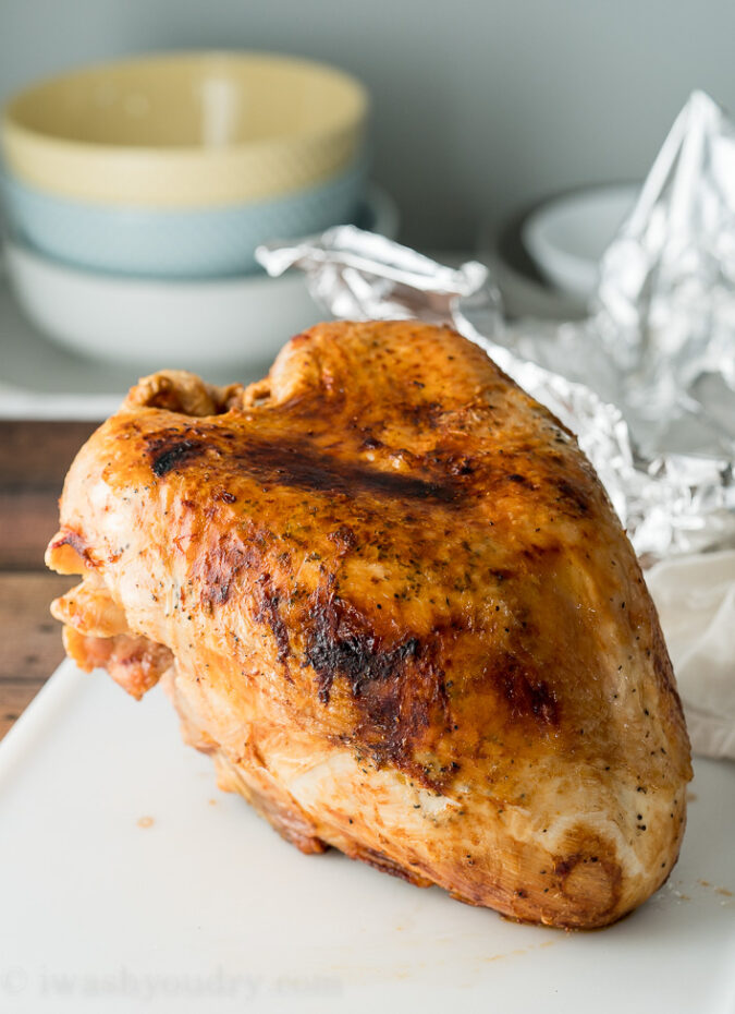 Perfectly golden brown and ultra juicy Turkey Breast in the the Air Fryer!
