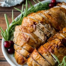 WOW! This ultra juicy Air Fryer Turkey Breast is a MUST for the holidays! So easy and crazy good!