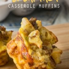A close up of food, with mini egg casserole muffins