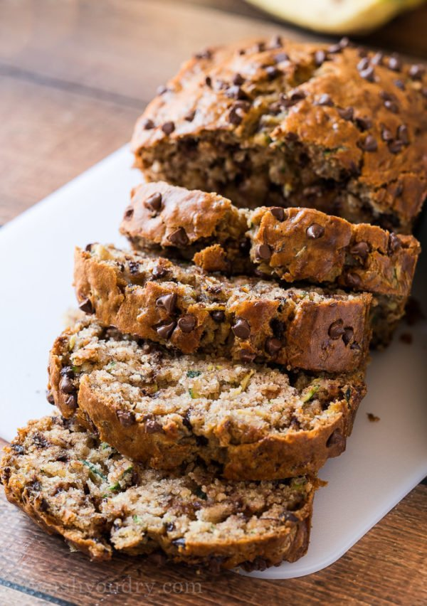 One Bowl Chocolate Chip Zucchini Bread I Wash You Dry