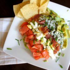 A plate showcasing Cobbocado Guacamole