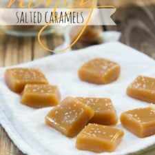 A plate of small caramel squares