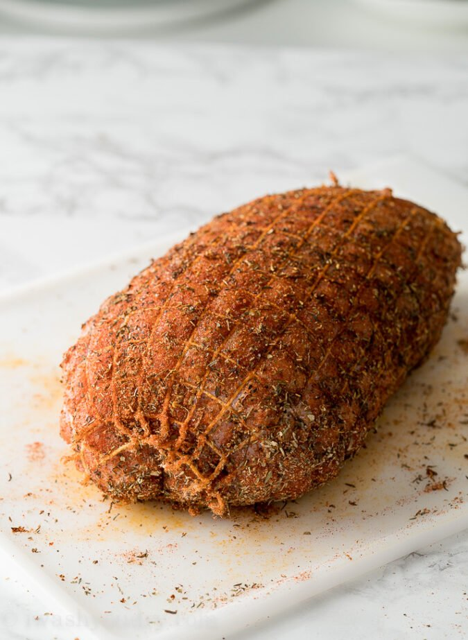 Season your turkey breast liberally with spices and then sear it in the pressure cooker to lock in the flavors!
