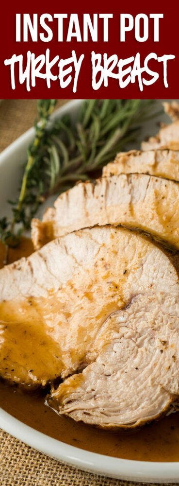 WOW! This Instant Pot Turkey Breast Recipe is the perfect way to make a delicious turkey breast in a fraction of the time. PLUS it makes the most delicious gravy all in one pot!