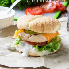 A close up of Jalapeño Ranch Chicken Sandwich