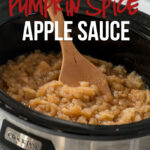 This Slow Cooker Spiced Apple Sauce Recipe is so easy it practically makes itself! Just toss some apples in your slow cooker and let it cook!