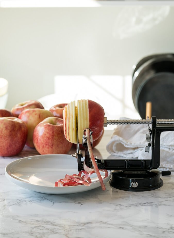 I'm obsessed with this apple peeler, corer and slicer! It's perfect for all of your fall baking with apples!