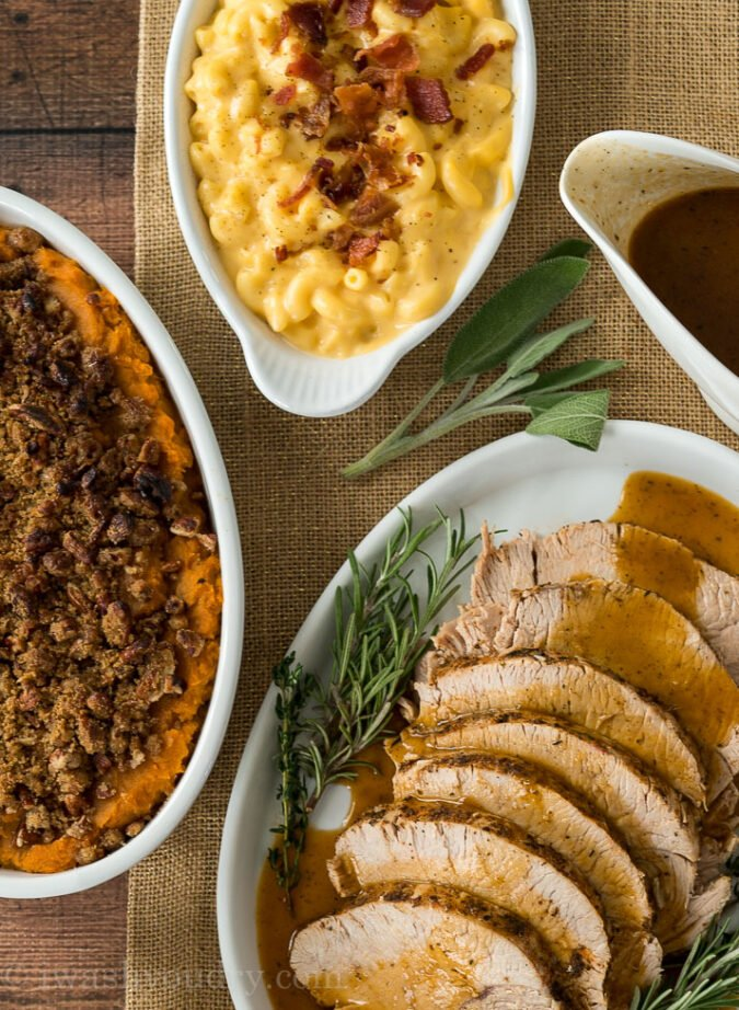 Plan your Thanksgiving Dinner Menu around how many people you're serving, plus all the sides!