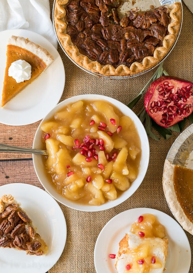 Thanksgiving Dinner Menu Ideas, plus all the dessert ideas too!
