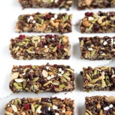 A close up of food, with Granola bars