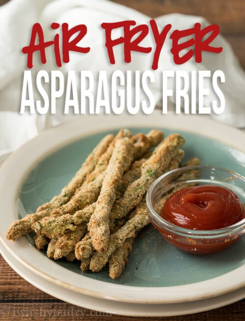 These Quick and Easy Air Fryer Asparagus Fries are perfect for an appetizer or easy side dish!