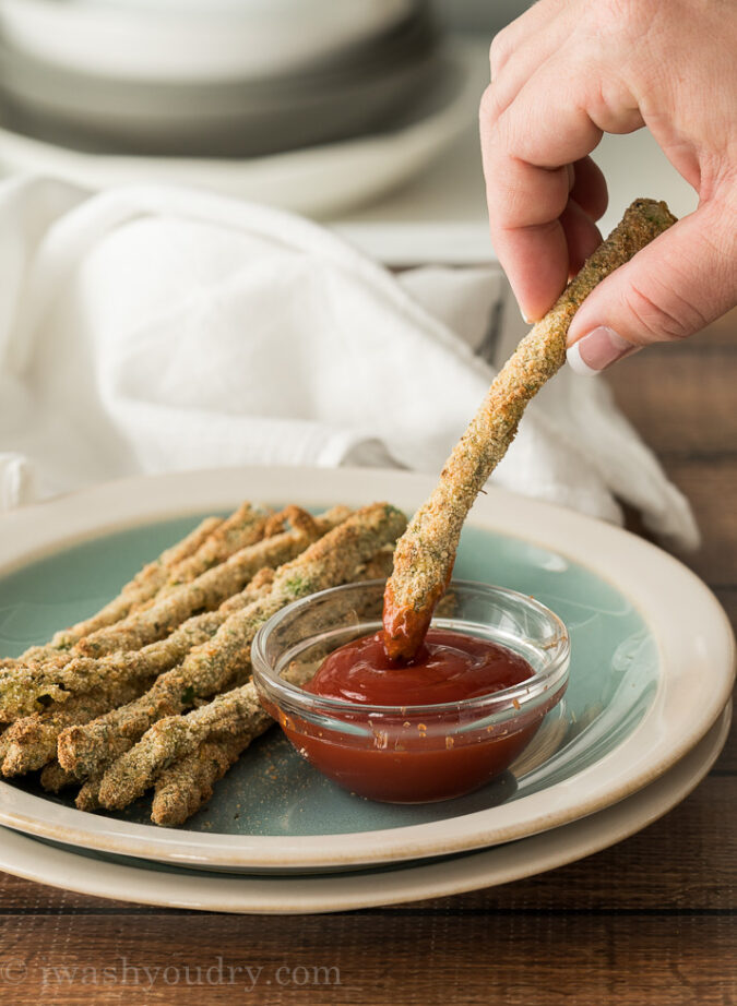 OMG! These crispy Air Fryer Asparagus Fries were everything! So easy to make and the perfect snack or appetizer!