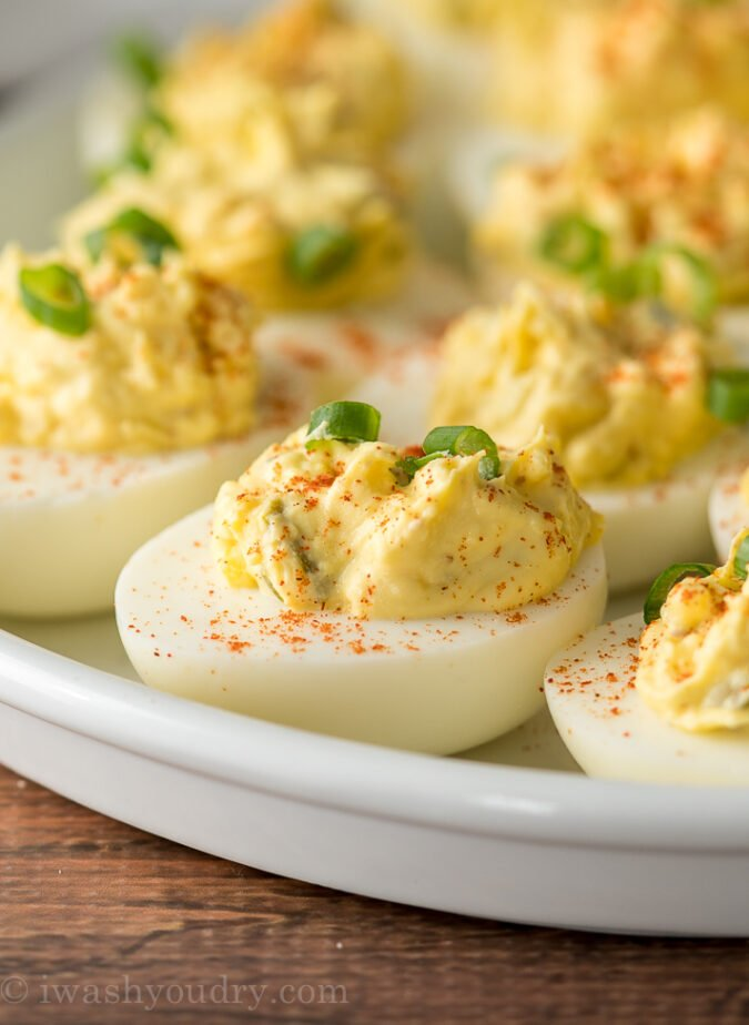 These Classic Deviled Eggs Recipe is a family favorite! So easy and always the first thing to go at parties and potlucks!