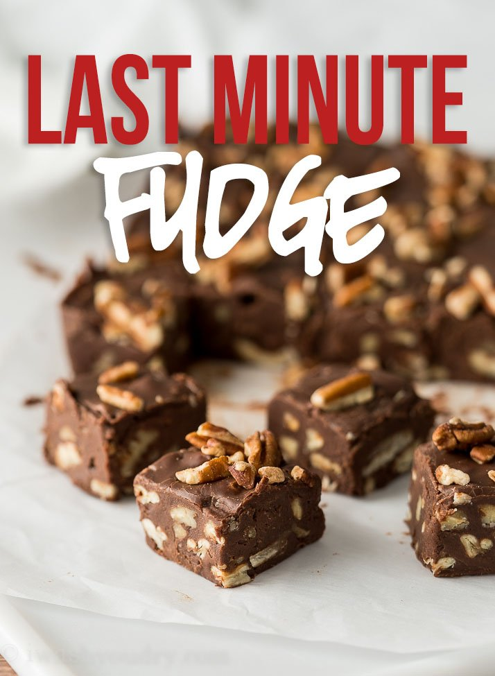 This Last Minute Chocolate Fudge Recipe quickly comes together in just minutes and is perfectly sweet and also customizable!