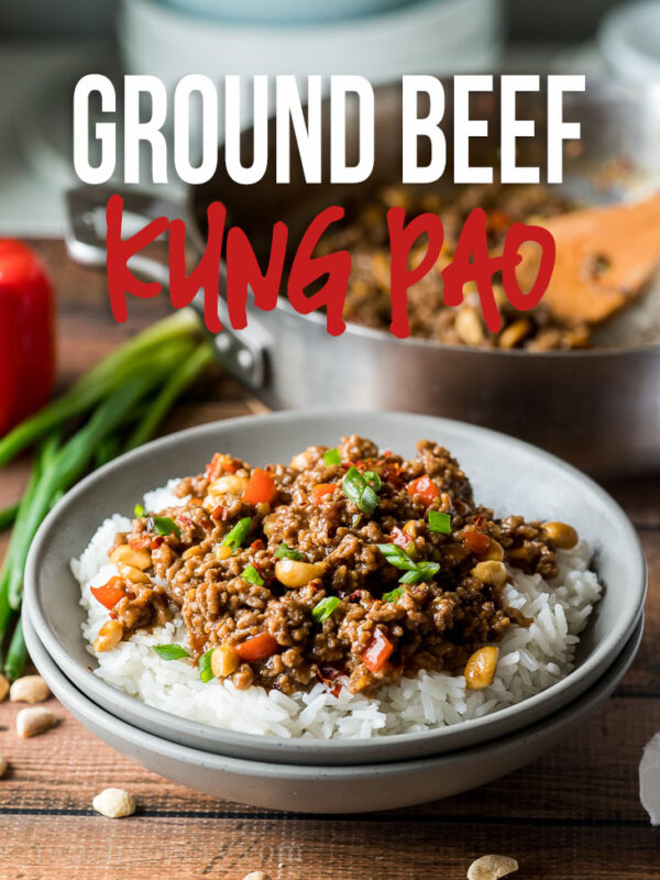 This super easy Ground Kung Pao Beef is ready in just 15 minutes and filled with ground beef in a deliciously spicy sauce.