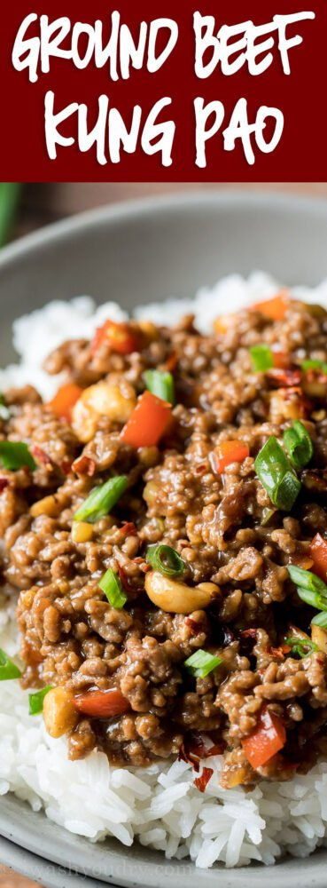 WOW! This super easy Ground Beef Kung Pao is a quick weeknight dinner that's ready in just 15 minutes! My whole family LOVED it!