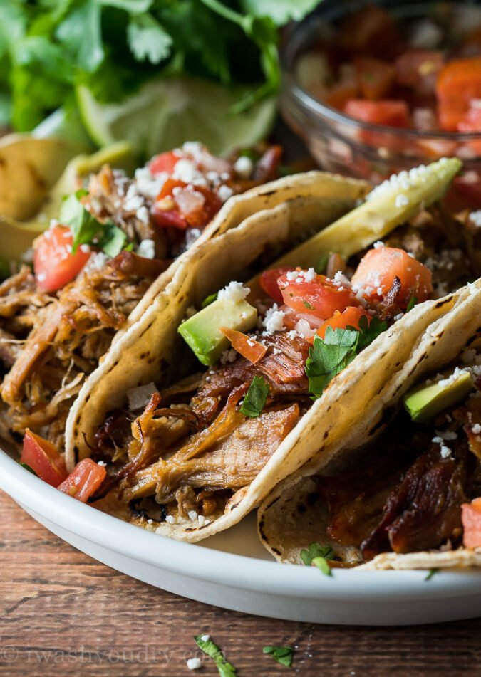 DELICIOUS! This super easy Pork Carnitas recipe is ready in a fraction of the time and tastes amazing!
