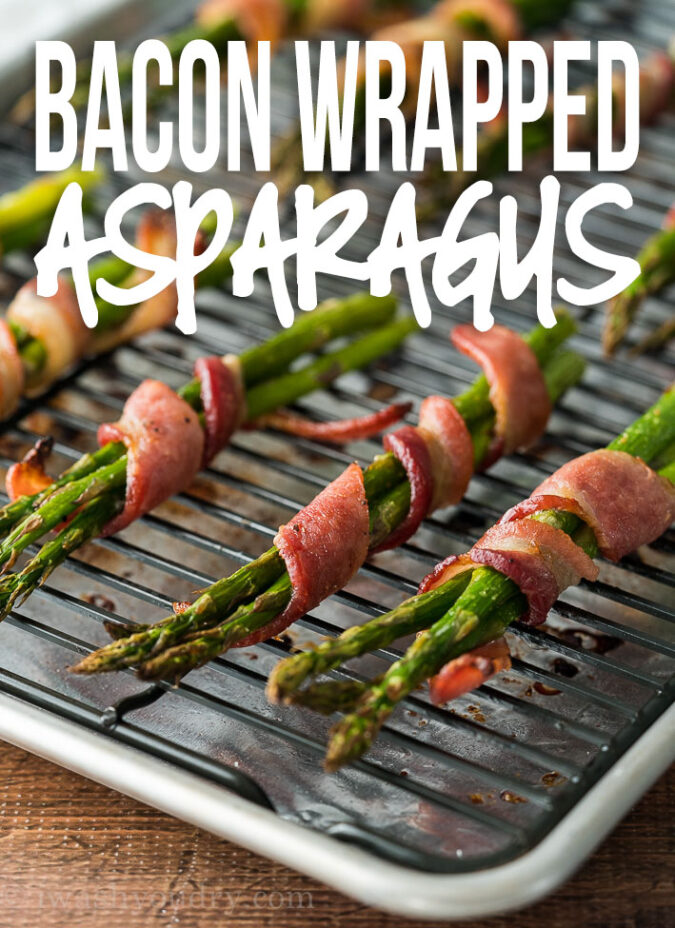 This super easy Bacon Wrapped Asparagus Recipe is just a handful of ingredients and ready in less than 25 minutes!