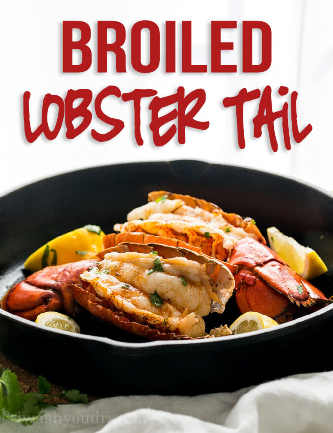 This Easy Broiled Lobster Tail Recipe is ready in about 10 minutes and is tender, buttery and delicious!