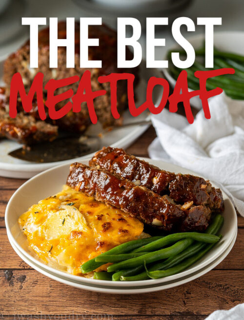 This is the BEST Classic Meatloaf Recipe out there! Super moist, easy to make and everyone always gives it RAVE reviews!