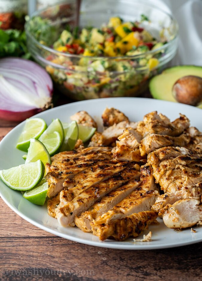 Grilled Chicken Tacos with fiesta seasonings