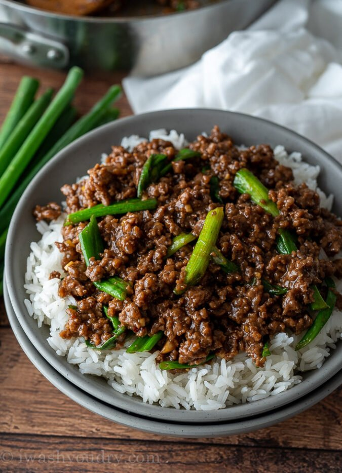Easy Mongolian Ground Beef Recipe | I Wash You Dry