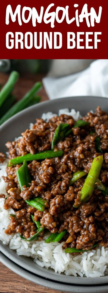 YUM! This super easy Mongolian Ground Beef Recipe is just like classic Mongolian Beef, except uses hamburger so it's ready in about 15 minutes!