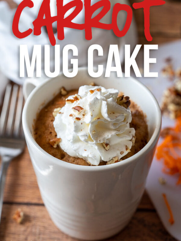 This Super Easy Carrot Cake Mug Cake is perfect for satisfying that sweet tooth craving in minutes!