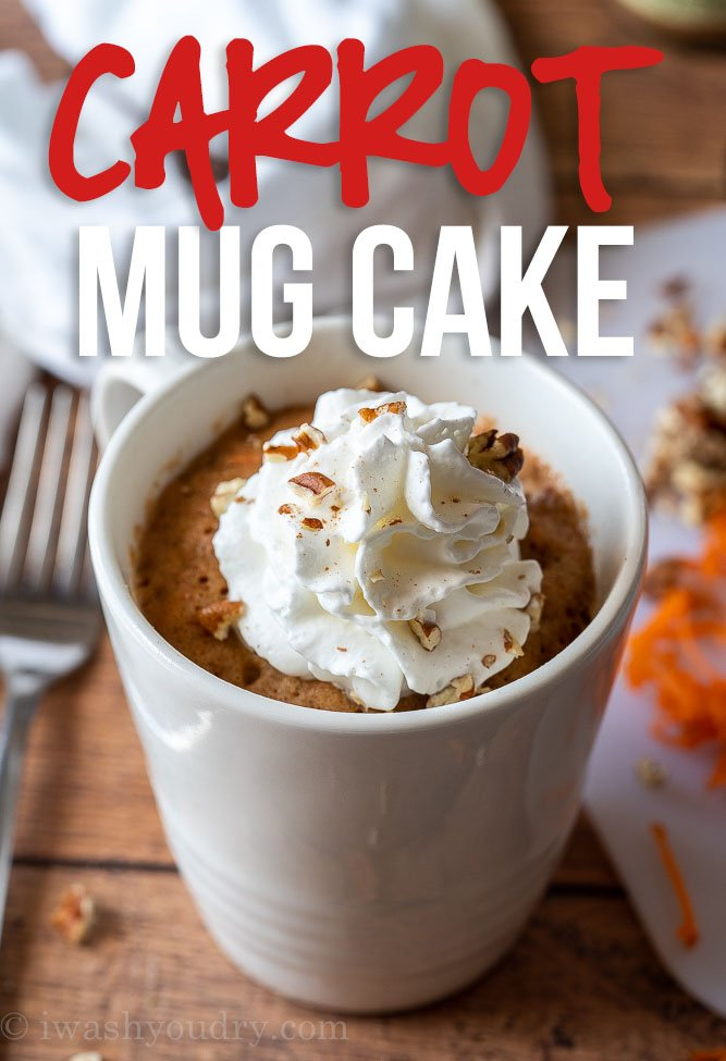This Super Easy Carrot Cake Mug Cake recipe is perfect for satisfying that sweet tooth craving in minutes!