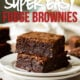 This Super Easy Fudge Brownie Recipe is a family size recipe, full of deep chocolate flavor, fudgy on the inside, with the perfect chocolate crust on the outside.