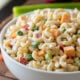 YUM! This Classic Macaroni Salad Recipe is super easy and the perfect side dish for all those summer potlucks!