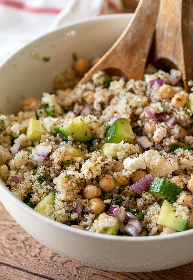 Chickpea Quinoa Salad Recipe I Wash You Dry