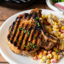 Tender and juicy grilled pork chops with the best marinade!