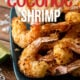 This Air Fryer Coconut Shrimp Recipe is a quick and easy with a perfectly crispy coating and tender shrimp on the inside!
