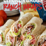 These Chicken Bacon Ranch Wraps are a super simple lunch recipe that are cool, creamy and filled with crisp bacon.