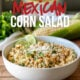 This Creamy Mexican Corn Salad is filled with grilled corn in a creamy sauce then topped with Cotija cheese and chili powder.