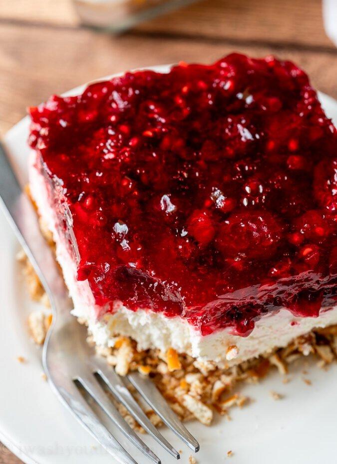 Raspberry Jello Dessert