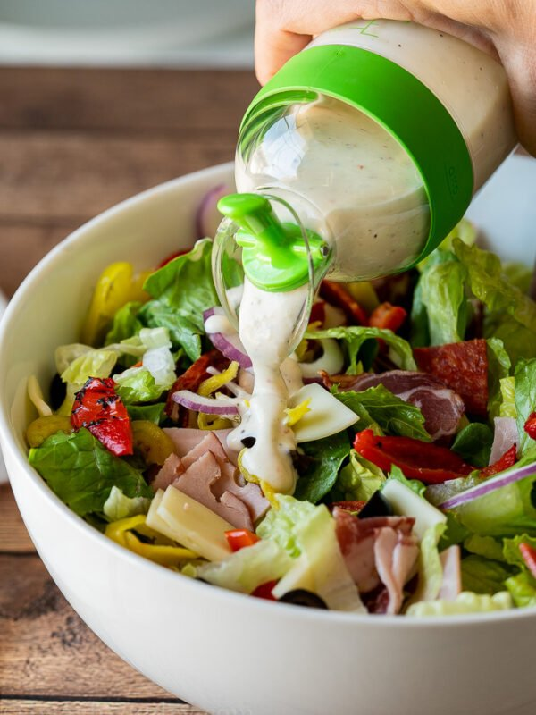 Dress the salad just before serving for best flavor and texture.