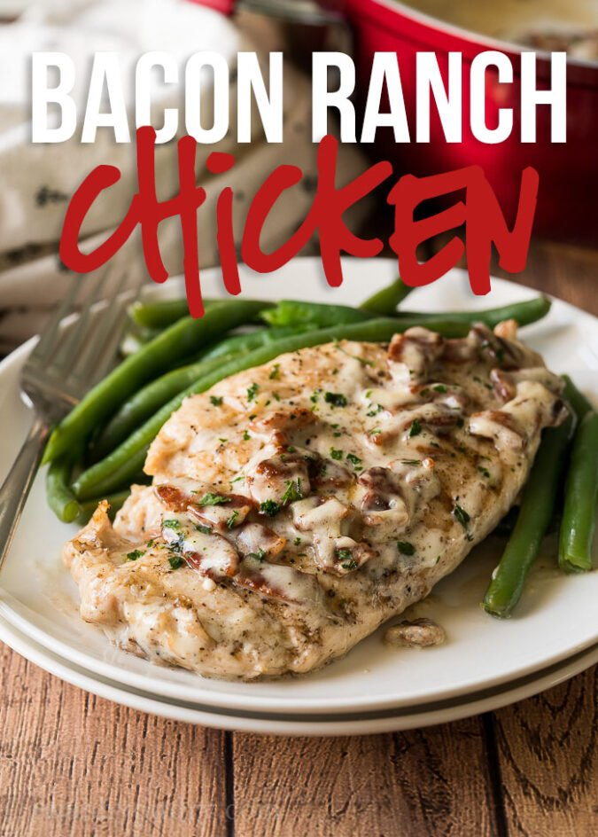 This Bacon Ranch Grilled Chicken Recipe is juicy and tender with the most amazing two ingredient sauce!