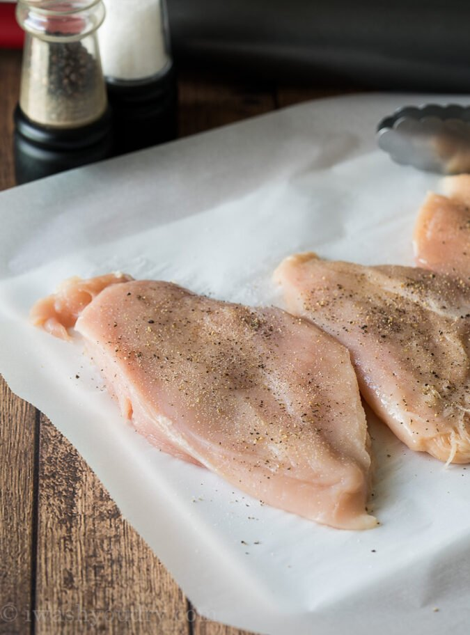 To get ultra juicy grilled chicken breast, make sure you pound the chicken to an even thickness before grilling.