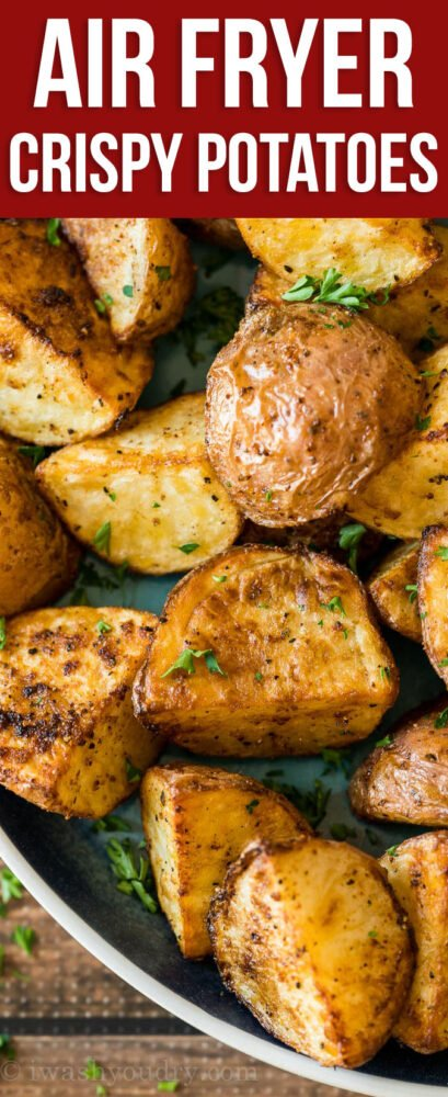 These Crispy Potatoes are made in minutes in the Air Fryer with just a handful of basic ingredients!