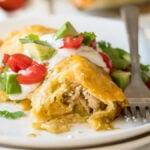 The best creamy Green Chicken Enchiladas Recipe
