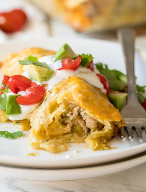 The best creamy Green Chicken Enchiladas Recipe