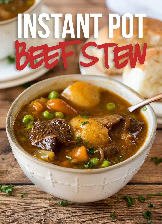 Super easy Instant Pot Beef Stew Recipe